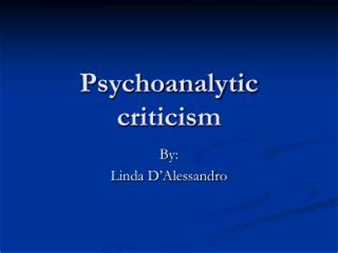 what is psychological criticism